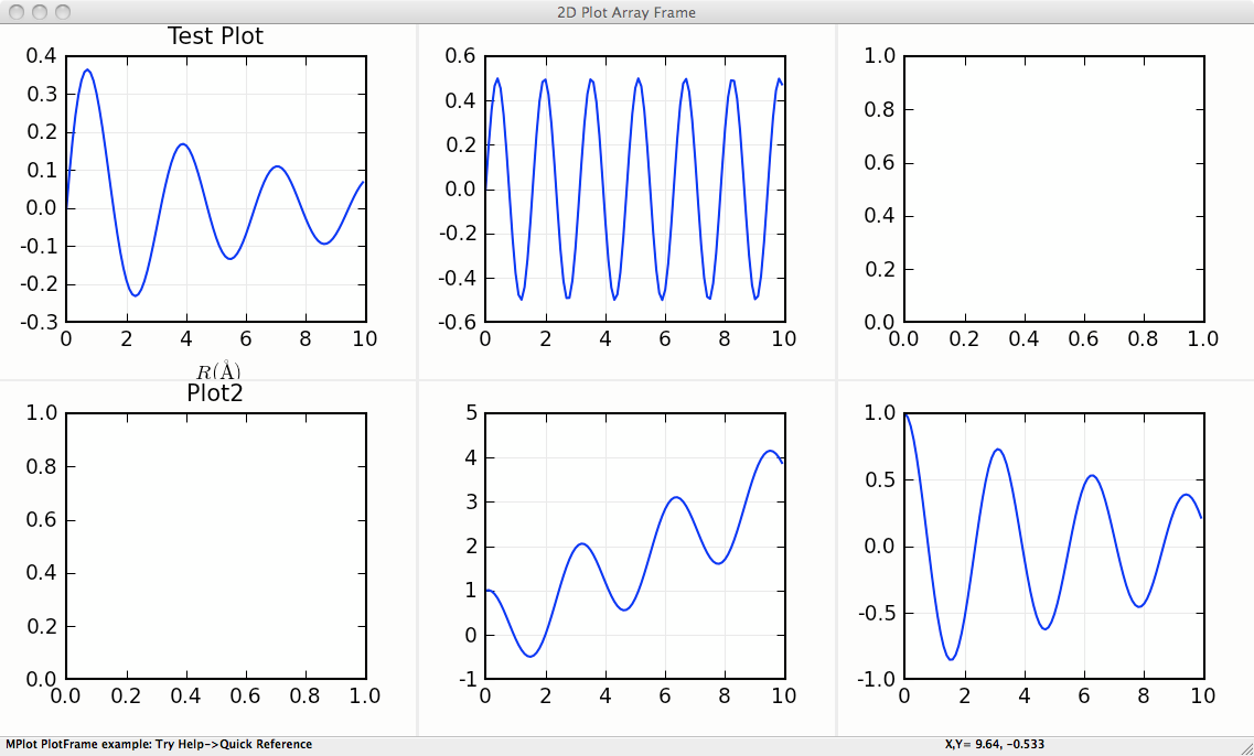 Speciality wxmplot displays — WXMPLOT: plotting widgets